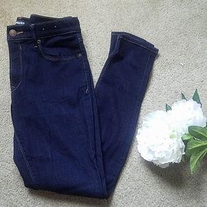 Express Mid-Rise Dark Blue Jean Leggings